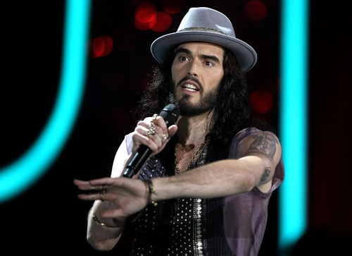 Russell Brand appears onstage at the MTV Movie Awards on Sunday, June 3, 2012, in Los Angeles. (Photo by Matt Sayles/Invision/AP)