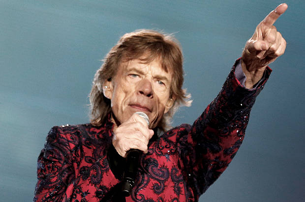 "Mick Jagger of The Rolling Stones sings during their ""Latin America Ole Tour"" at the Foro Sol in Mexico City"