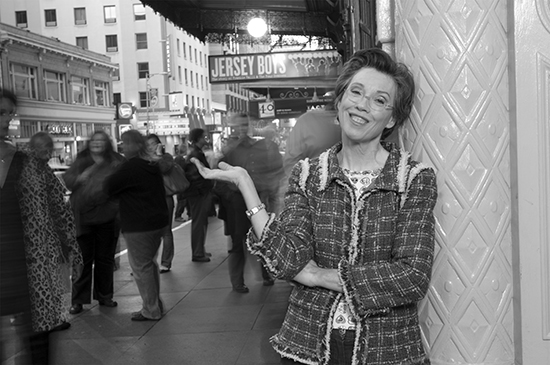 Carole Shorenstein Hays outside the Curran Theatre in 2007. Photo: Kevin Berne